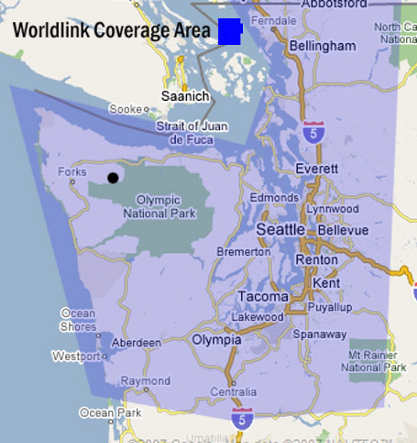 Pacific Internet DSL Coverage Map